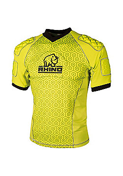 Rhino Rugby - Lightweight Pro Body Protection Top Yellow - Junior - Yellow