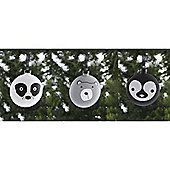 Glass Animal Face Christmas Tree Decorations, 6 pack