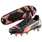 Puma evoPOWER 4.2 H8 Rugby Boots Black / Red - Sizes UK 7 - 13 - Black