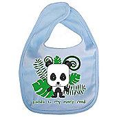 Dirty Fingers Panda to my every need Baby Cute Bib Blue