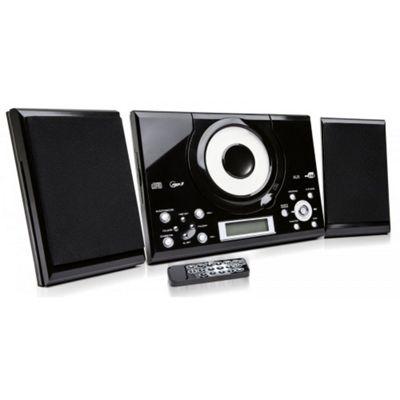 Grouptronics GTMC-101 Black CD Player With Radio & Clock Alarm