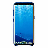 Samsung Galaxy S8 Alcantara Back Cover - Navy Blue