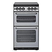 New World NH500TSIDLSIL 500mm Twin Cavity Gas Cooker in Silver