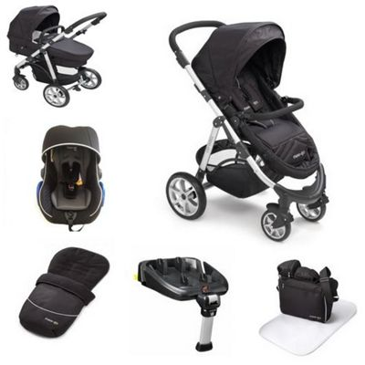 buy mee go pramette travel system with 2 way isofix base black from our travel systems range. Black Bedroom Furniture Sets. Home Design Ideas