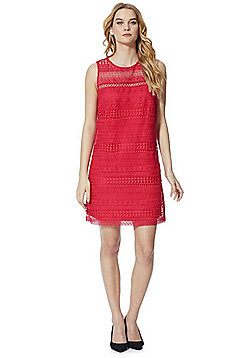 F&F Lace Sleeveless Summer Dress - Pink