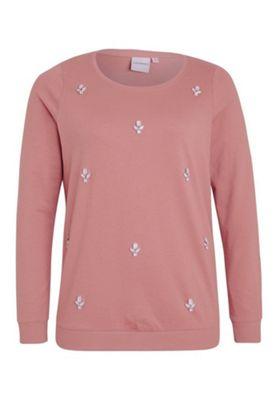 Junarose Embellished Plus Size Sweatshirt Pink 14-16