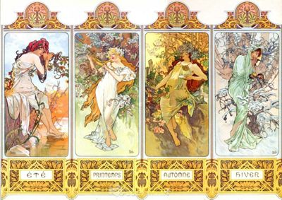 Mucha - The Four Seasons - 1000pc Puzzle