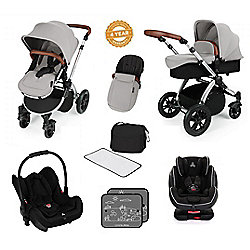 Ickle Bubba Stomp V3 AIO Isofix Travel System Plus 2nd Stage Group 123 Car Seat