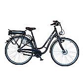 "Minerva L-W 120 17"" Frame Step Through Dutch Style Electric Bike Black"