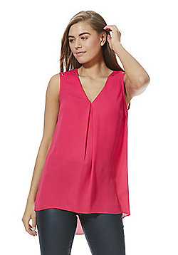 F&F Pleat Front Shell Top - Pink