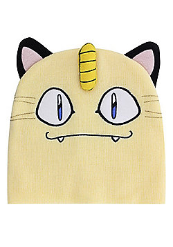 Pokemon Meowth Beanie Cream - Cream