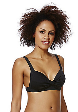 F&F Shaping Swimwear Twist Front Bikini Top - Black