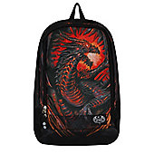 Spiral Dragon Furnace With Laptop Pocket Black Backpack 33x46x19cm