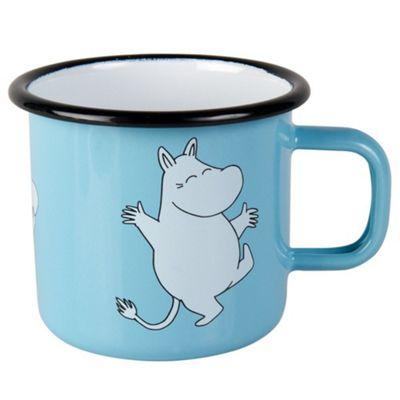 Muurla Enamel Moomin Moomintroll Mug Cup in Light Blue 37cl