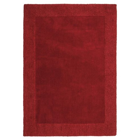 Tesco Tiered Border Wool Rug Berry 120X170Cm