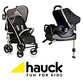 Hauck Vegas Isofix Base Travel System - Melange Grey