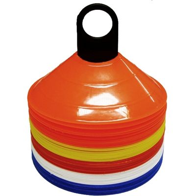 Set of 50 Space Safety Football Rugby Training Marker Cones Assorted Colours