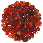 Mixed Glass Beads Reds