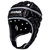 Rhino Rugby Pro Headguard / Scrum Cap - Adult Black - Black
