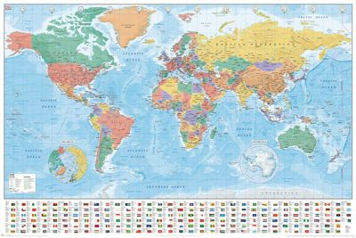 Buy world map flags and facts poster from our posters range tesco world map flags and facts poster gumiabroncs Choice Image