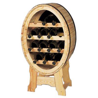 Wooden Wine Rack - Elegantly curved holder for 14 wine bottles