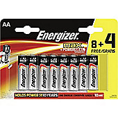 Energizer MAX Alkaline AA Batteries 12 Pack