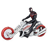 Marvel Spider-Man 15cm Figure - Kid Arachnid with Web Chopper