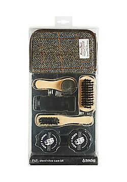 F&F Harris Tweed Travel Shoe Care Kit - Multi