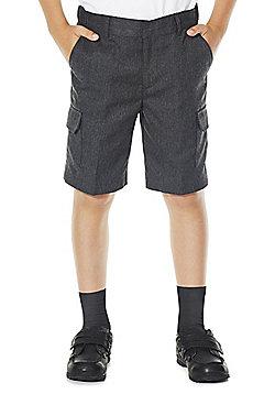 F&F School 2 Pack of Boys Combat Shorts - Light grey