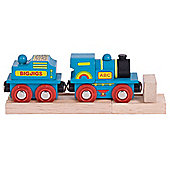 Bigjigs Rail Blue ABC Engine