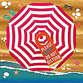 Extra Large Beach Towel, Umbrella - 180 x 180 cm