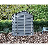 Palram Skylight Dark Grey Plastic Shed, 6x3ft