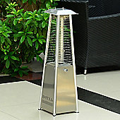 Outsunny 3KW Garden Table Top Propane Gas Heater Patio Stainless Steel