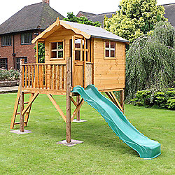 Mercia Poppy Tower Playhouse With Slide