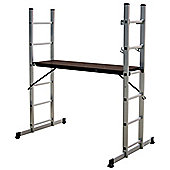 Charles Bentley DIY 5-IN-1 Scaffolding, Multi Purpose Step Ladder