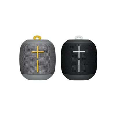 Ultimate Ears WONDERBOOM Bluetooth Speaker Bundle (Black + Grey)