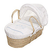 OBaby Hello Little One Moses Basket (Blue)