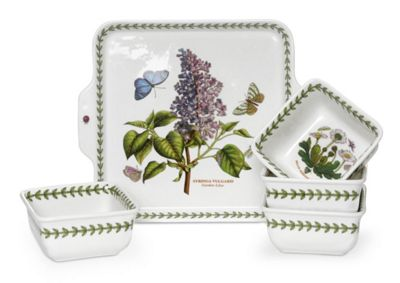 Portmeirion Botanic Garden 5 Piece Accent Bowl Set 9.3in By 8in