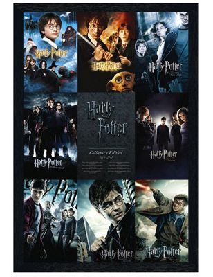 Harry Potter The Complete Black Wooden Framed From Boy to Wizard Poster
