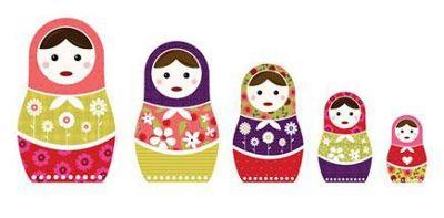 Russian Dolls Wall Stickers