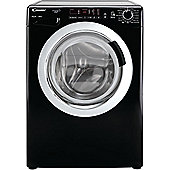 Candy Washing Machine, GVS148DC3B, 8kg load with 1400 rpm - Black with Chrome Door