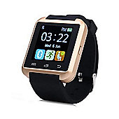 BAS-TEK U8 Bluetooth Touchscreen Smartwatch For iPhone and Android - Rose Gold