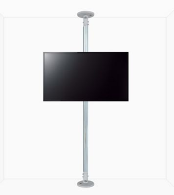 B-Tech Floor to Ceiling Mount for up to 55 inch TVs - 4m Pole - Chrome