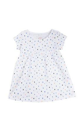 F&F Smudge Spot Smock Dress White/Multi 12-18 months
