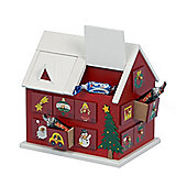 Premier 20cm Wooden Advent Calendar House