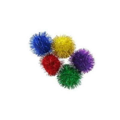 Impex Assorted Glitter Pom Poms 13mm