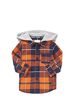 F&F Checked Hooded Shirt - Multi
