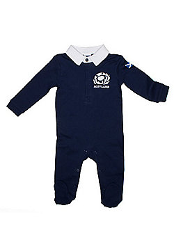 Scotland Rugby Baby Sleepsuit - Navy - Blue