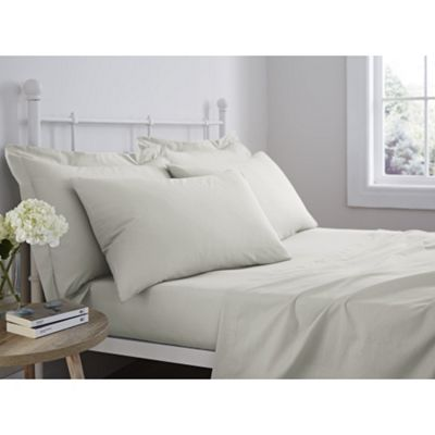 Catherine Lansfield 100% Cotton Natural Fitted Sheet - King