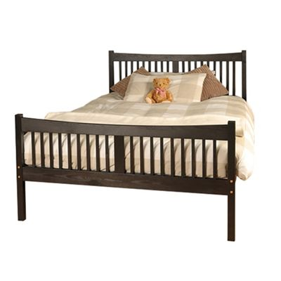 Comfy Living 5ft King Farmhouse JD shaker in Chocolate with Basic Budget Mattress